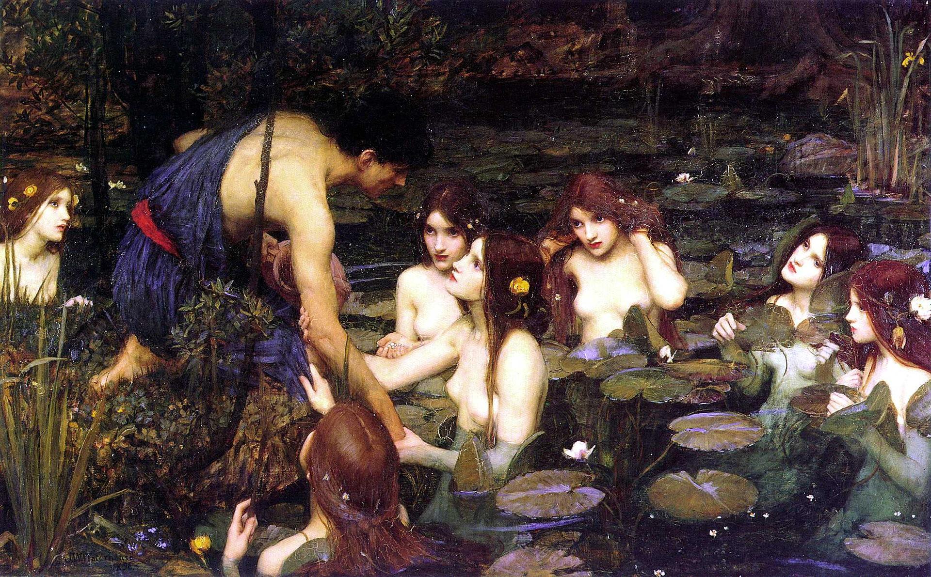 John William Waterhouse, Hylas und die Nymphen